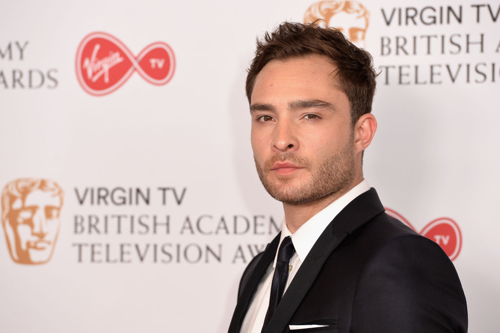 Ed Westwick poses in the Winner's room at the Virgin TV BAFTA Television Awards
