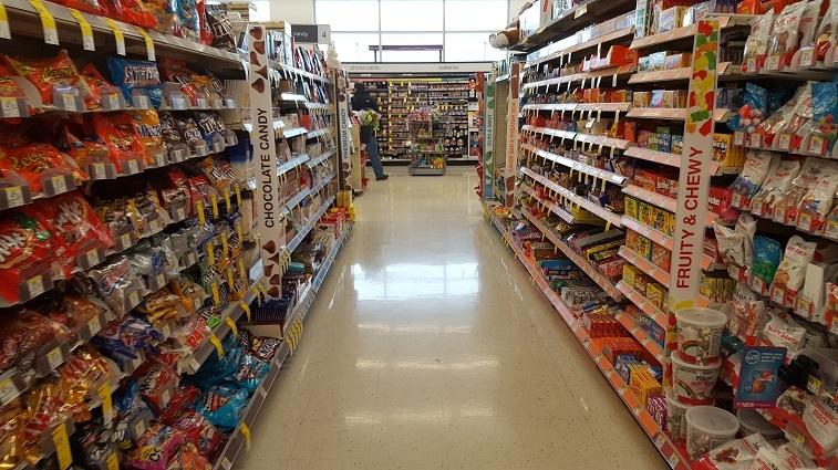 Candy aisle at Walgreens