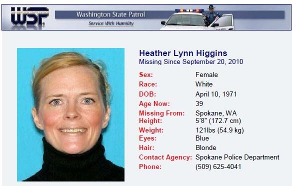 Heather Higgins Washington-State-Missing-Person