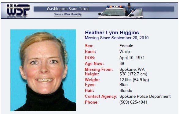 Heather Higgins Washington-State-Missing-Person