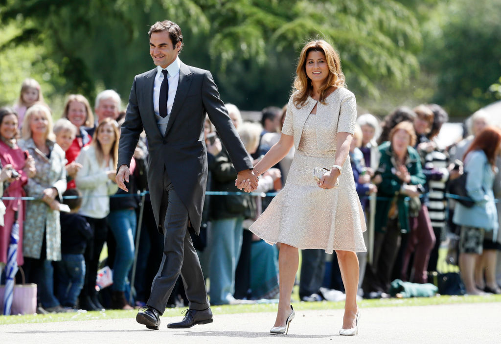Swiss tennis player Roger Federer and his wife Mirka arrive at St Mark's Church