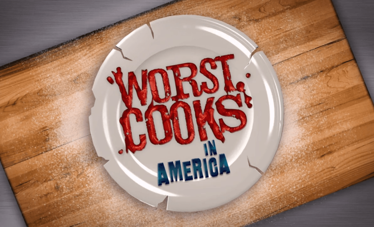 Worst Cooks in America title shot on broken plate