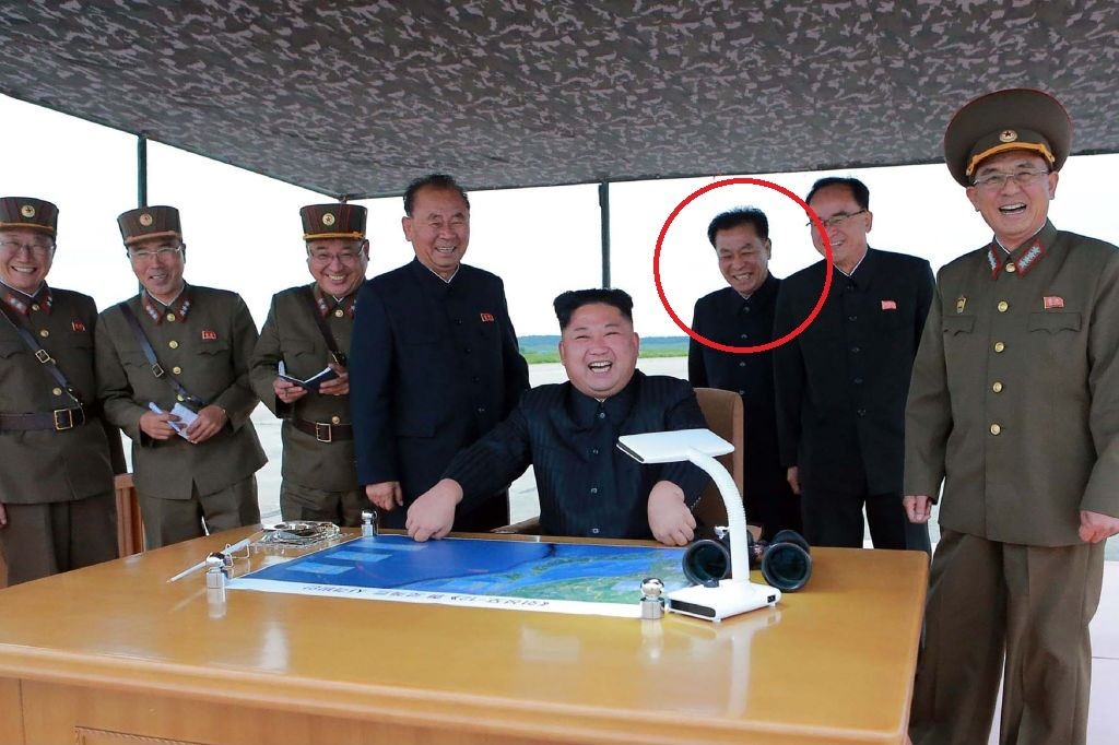North Korean leaders with Kim Jon Un