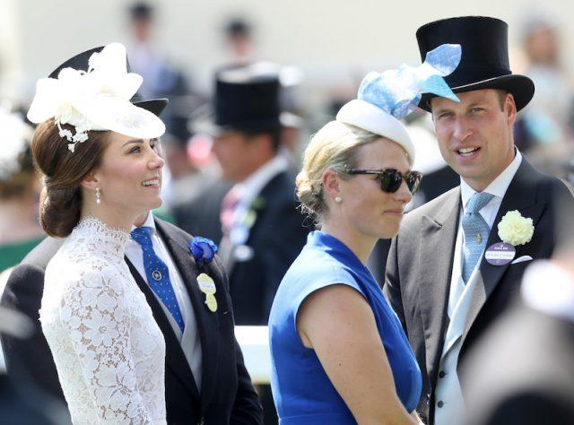 Kate Middleton and Zara stand together at an event.