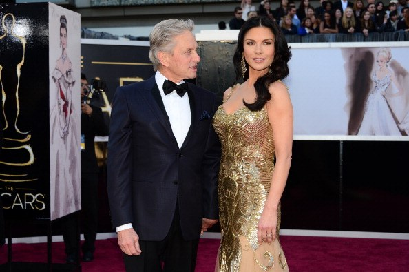 Michael Douglas and actress Catherine Zeta Jones