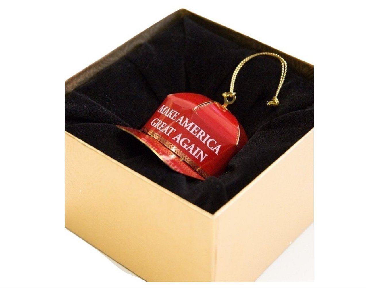 trump christmas ornament