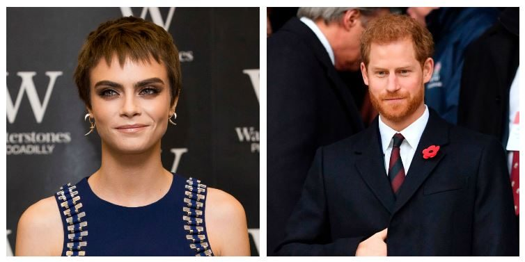 A composite image of Cara Delevingne and Prince Harry