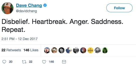 David Chang expressed his shock at the Mario Batali allegations