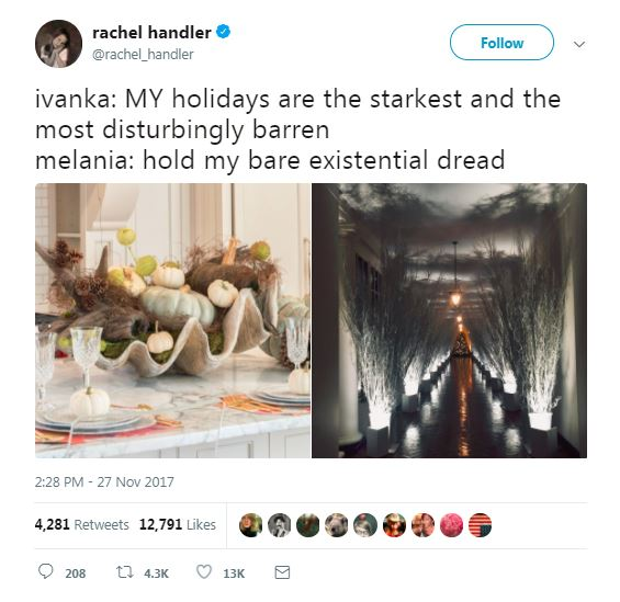 melania and ivanka christmas decor