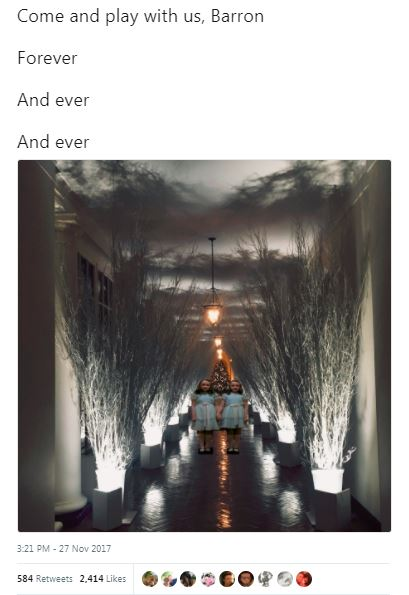 trump christmas decorations with the shining