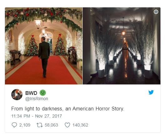 obama white house and trump white house side by side