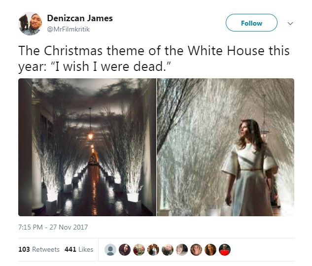 melania trump death wish christmas