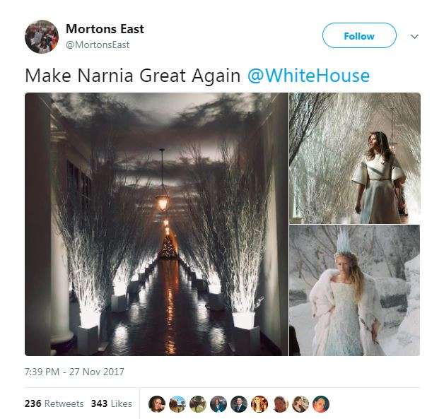 white house christmas decorations narnia