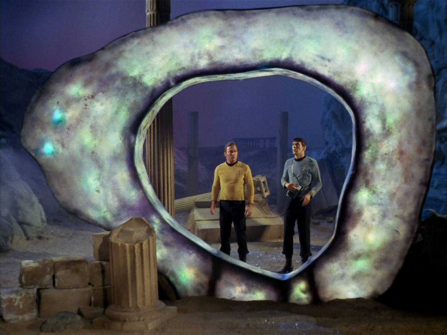 "Kirk and Spock in ""The City On The Edge Of Forever"""