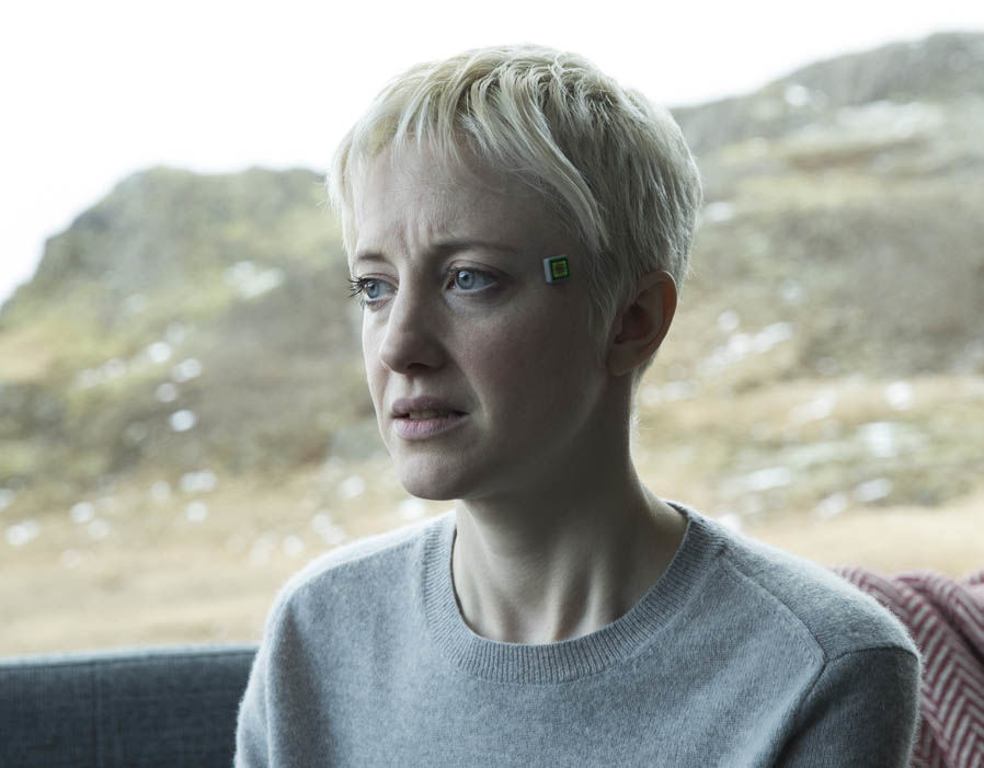 "Andrea Riseborough in the Black Mirror ""Crocodile"""
