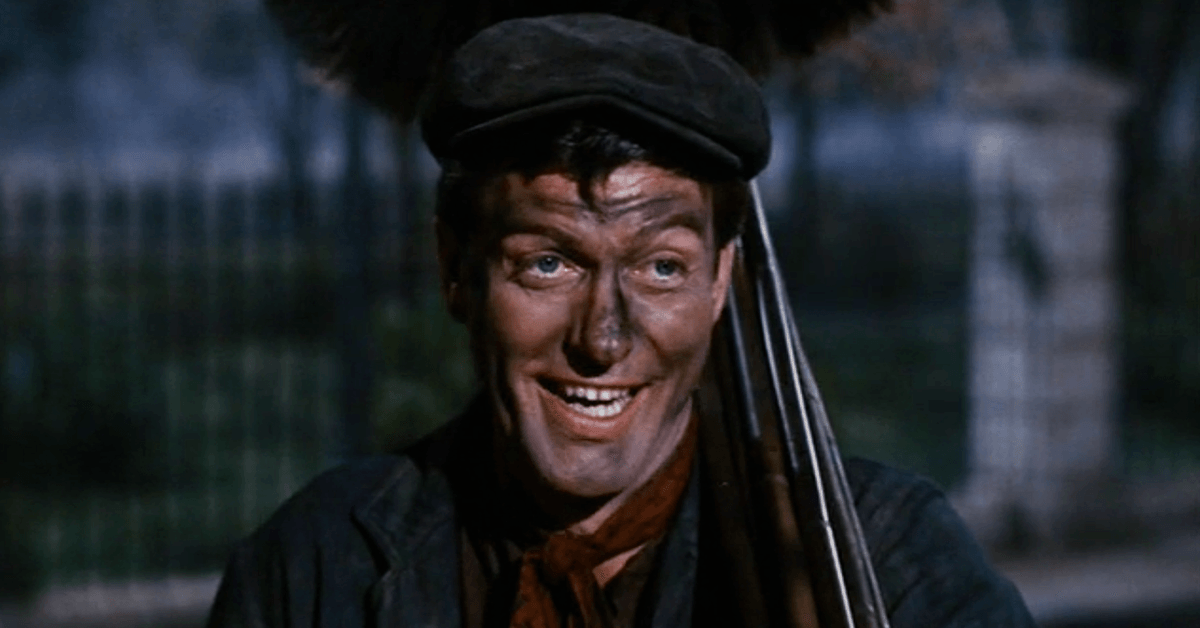 Dick Van Dyke as Bert in Mary Poppins