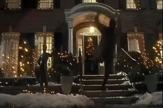harry falls down icy stairs in home alone