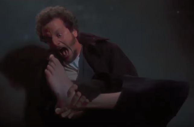 marv gets a nail through the foot