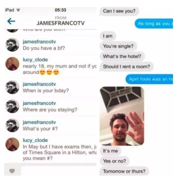 an instagram conversation with james franco
