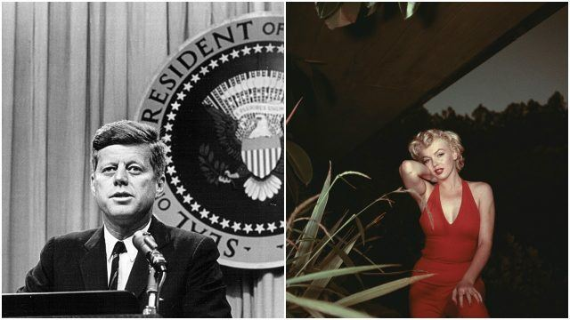JFK and Marilyn are rumored to have had an affair.