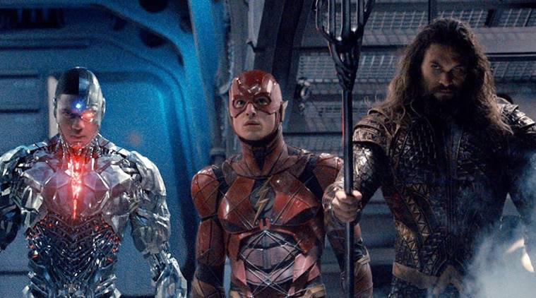 Cyborg, The Flash, and Aquaman
