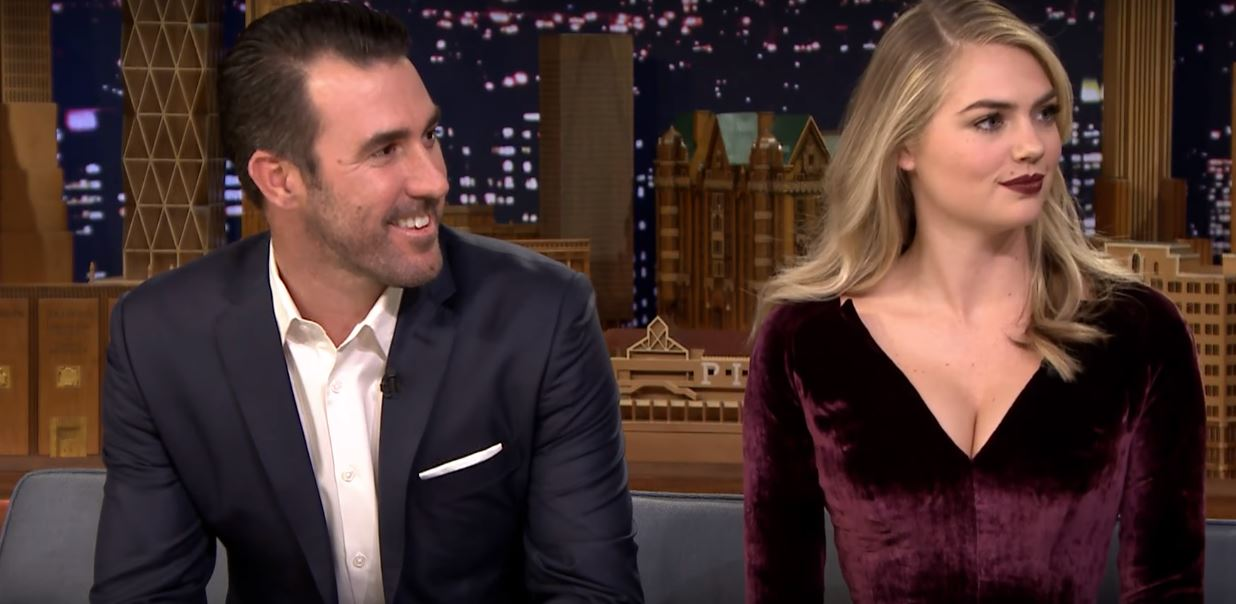 Justin Verlander and Kate Upton on The Tonight Show Starring Jimmy Fallon