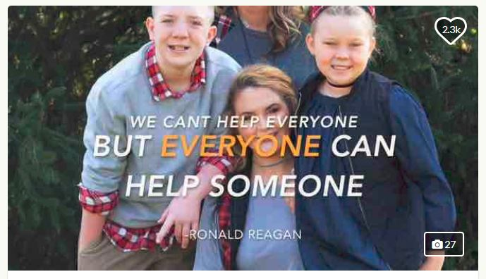 the gofundme cover page for keaton jones