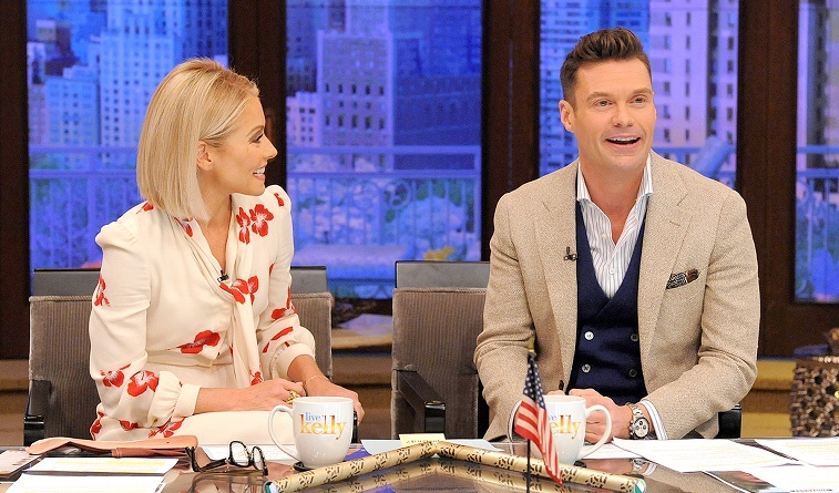 Kelly Ripa and Ryan Seacrest on Live with Kelly and Ryan