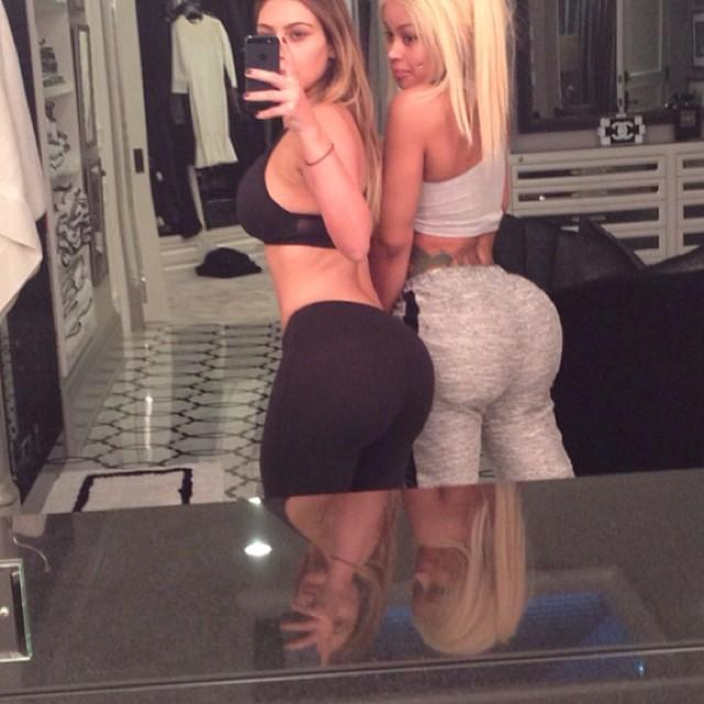 Kim Kardashian West and Blac Chyna