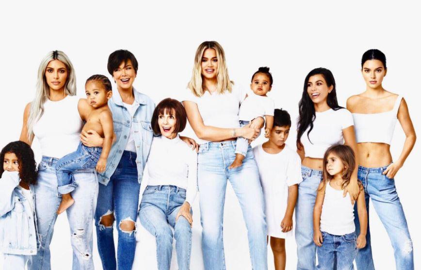 The Kardashian-Jenner women and their kids, sans Kylie