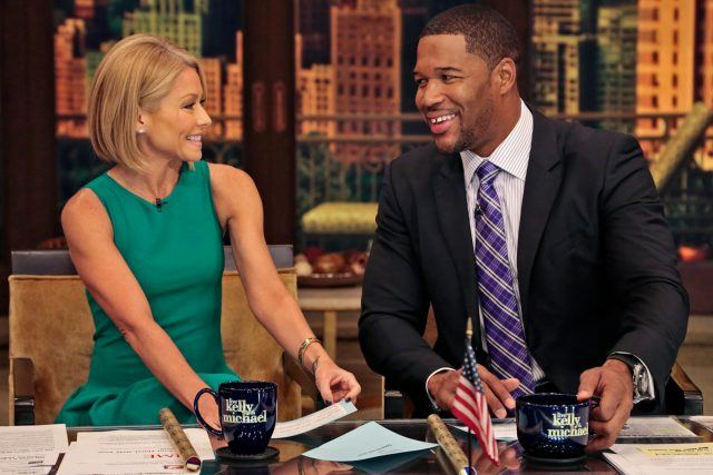 Kelly Ripa and Michael Strahan on 'Live with Kelly and Michael'.