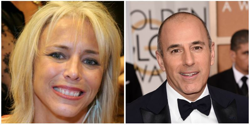 A composite image of Nancy Alspaugh and ex-husband Matt Lauer