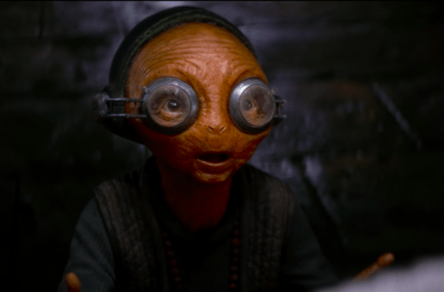 Maz tells Rey the lightsaber calls to her in 'Star Wars: The Last Jedi'.