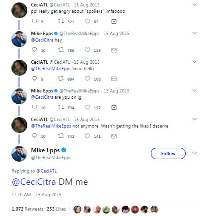 a twitter conversation with mike epps