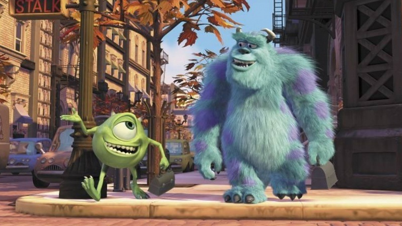 Mike and Sully in Monsters, Inc.