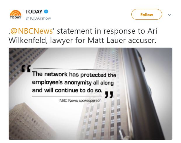 NBC responded to Wilkenfeld's complaints