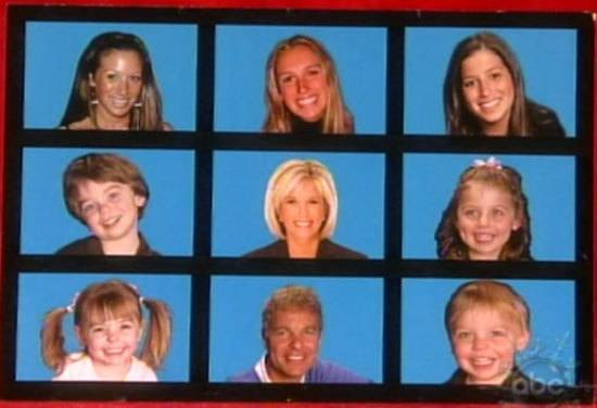 Joan Lunden and her kids on a Christmas card