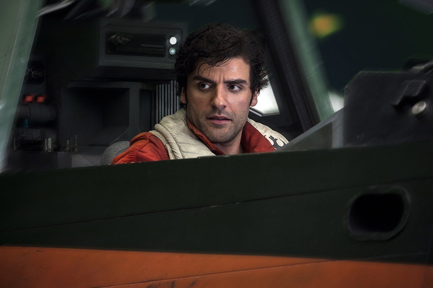 Oscar Isaac as Poe in Star Wars: The Last Jedi