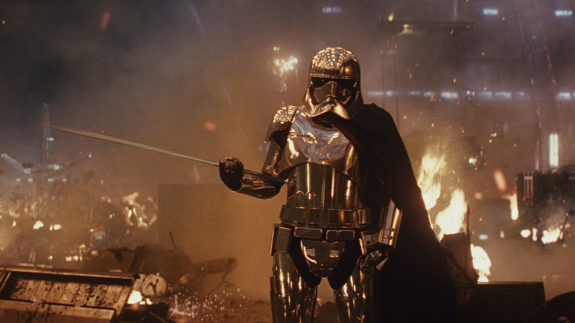 Captain Phasma in Star Wars: The Last Jedi