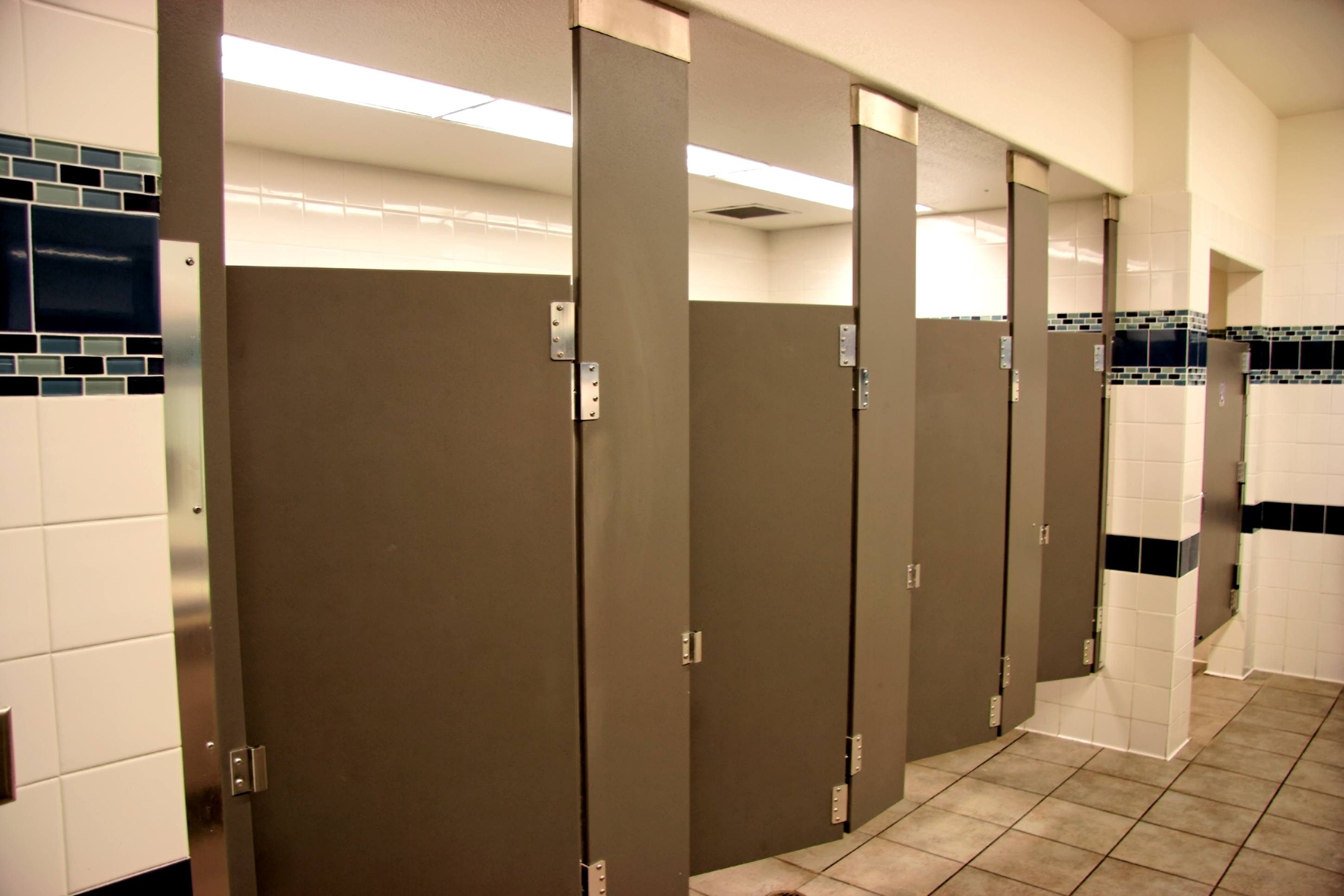 Empty Public Bathroom Stalls