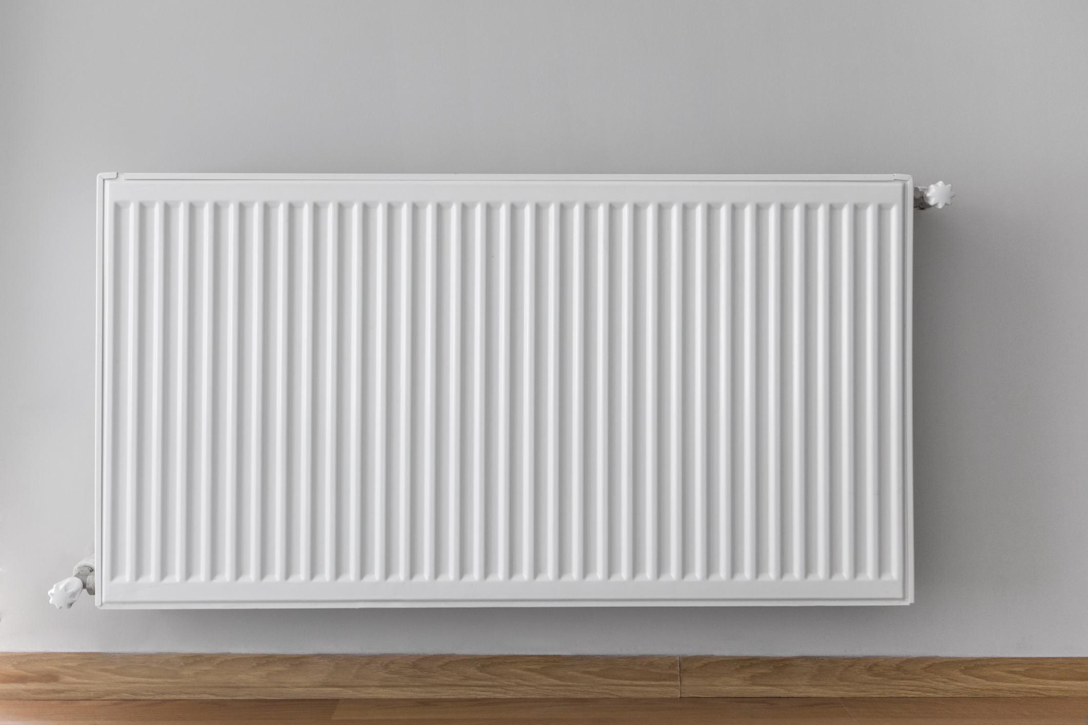 White heating radiator