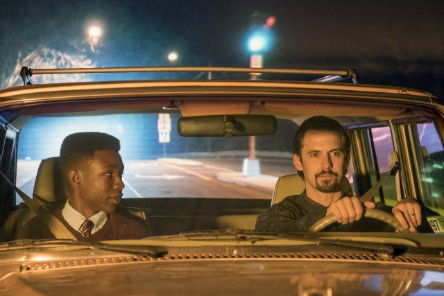 Jack Pearson drives his teenage son Randall at night in a scene from Season 2 of 'This Is Us.'