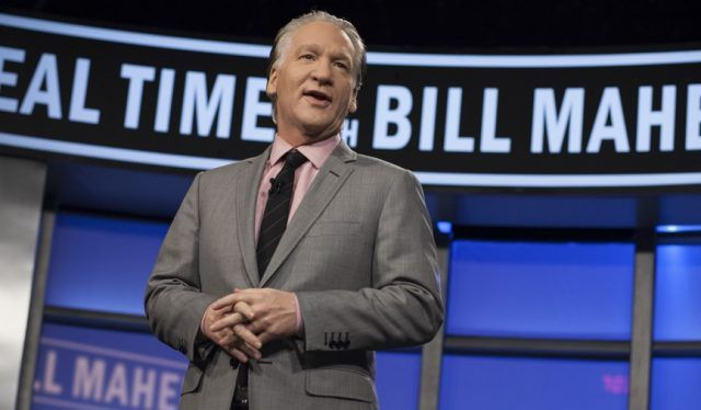 Bill Maher speaking on 'Real Time'.