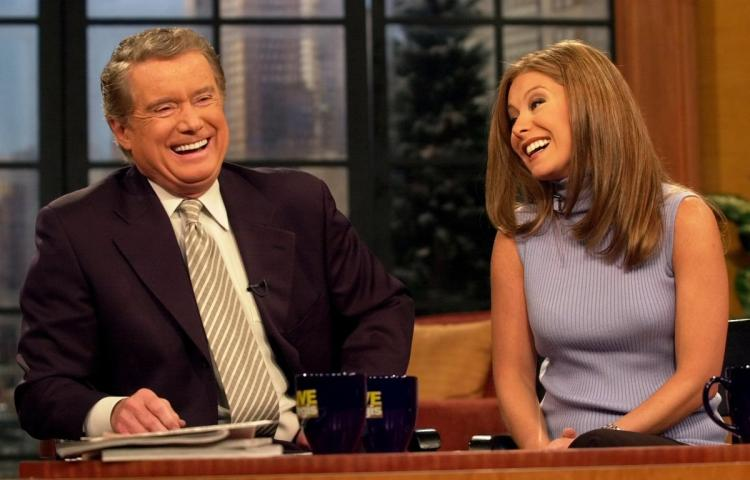 Regis Philbin and Kelly Ripa on Live with Regis and Kelly
