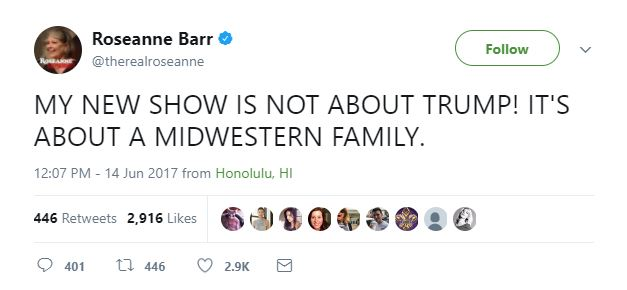 A tweet from Roseanne Barr