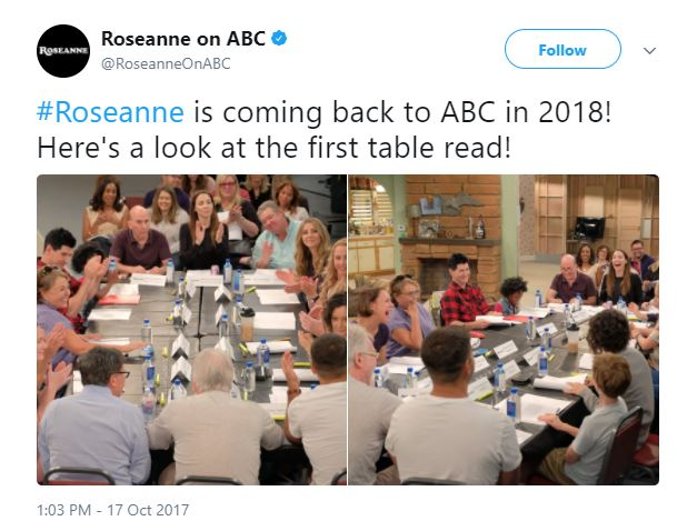 Roseanne cast table read