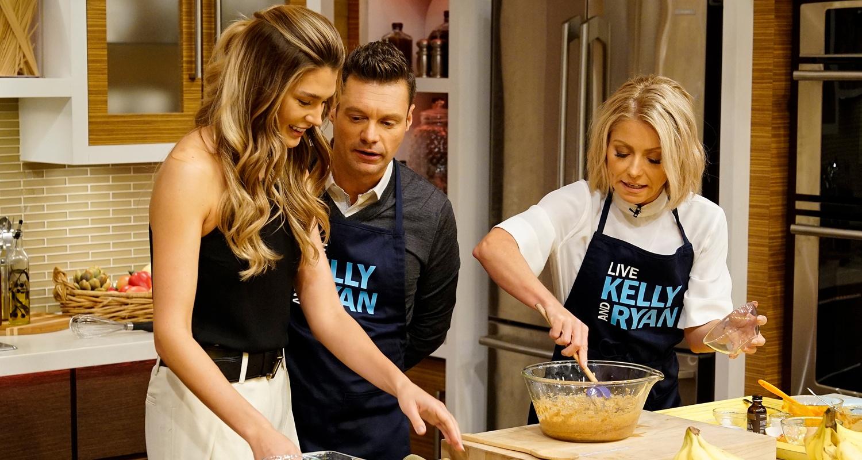 Shayna Taylor, Ryan Seacrest, Kelly Ripa Live with Kelly and Ryan