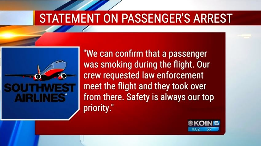 a screenshot of a statement from southwest airlines