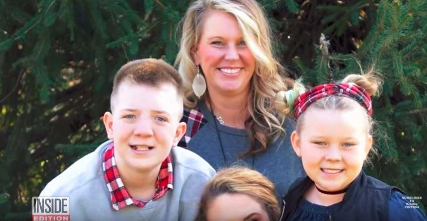 a family photo of the Keaton family