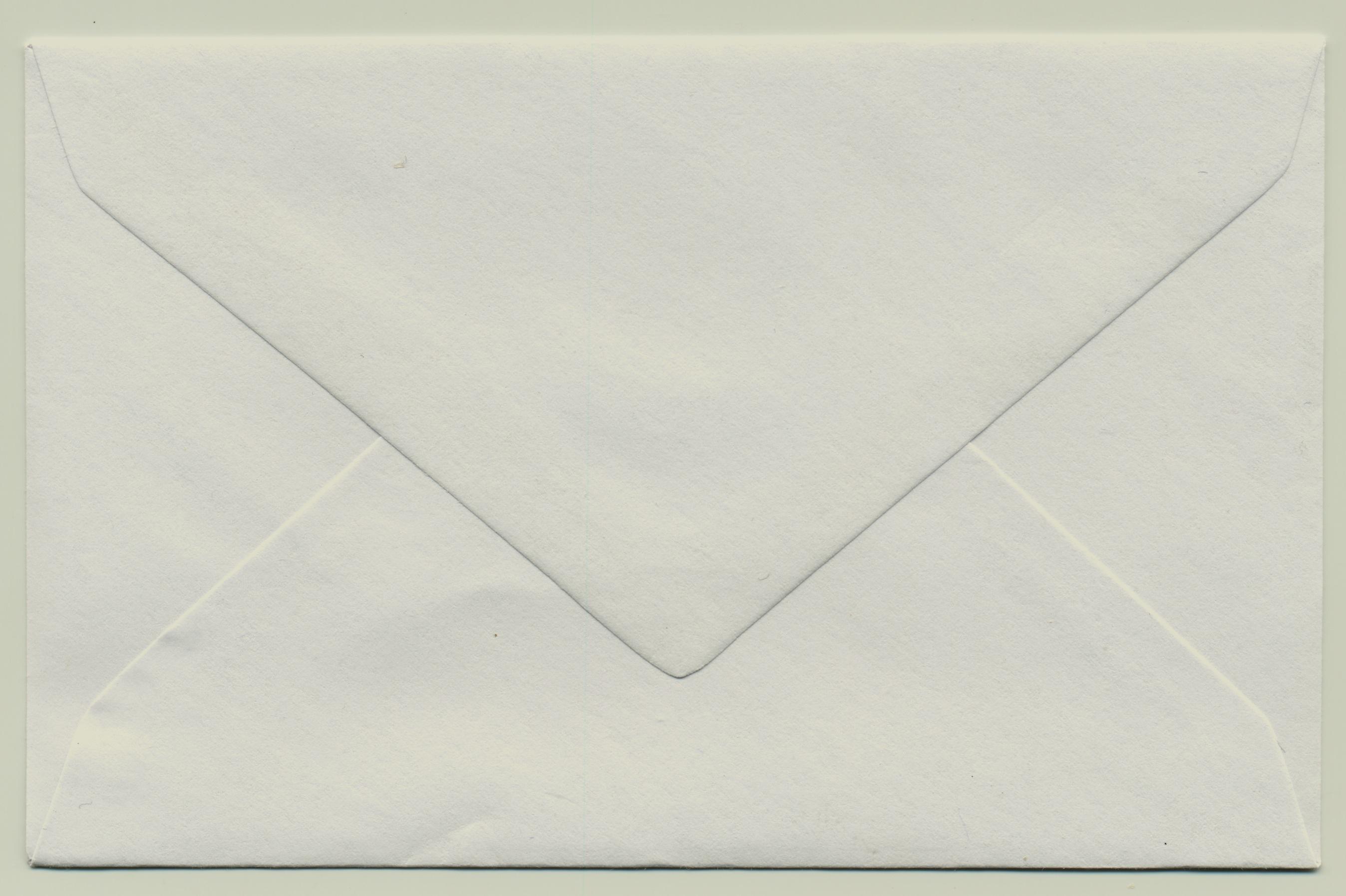 White Sealed letter envelope